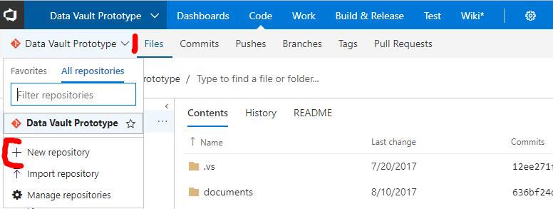 Code-Abschnitt von VSTS