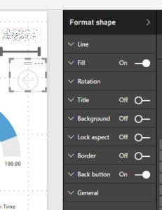 Zurück-Schaltfläche mit Konfigurations-Fenster