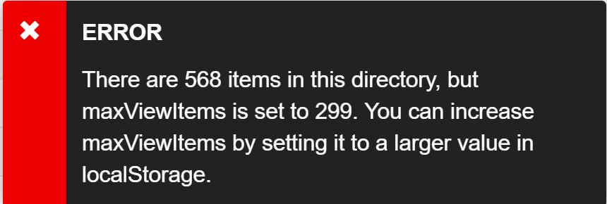 Mehr Dateien mit self-contained application erreicht ein Eintragslimit im localStorage