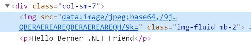 Abbildung zeigt ein HTML-Fragment mit eingebetteten Bild mittels data-Attribut.